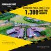 Combo Serena Resort full dịch vụ 1.300.000đ/Khách